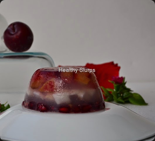 Triple layered Plum Terrine