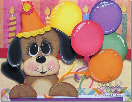 DOG PAPER PIECING -TOPPER-450