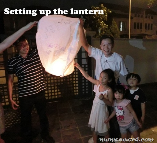 Setting up the lantern