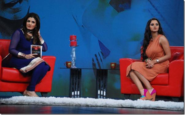 """Shoaib Malik and Sania Mirza on Raveena's show """"Isi ka Naam Zindagi Hai""""-Hai-11"""