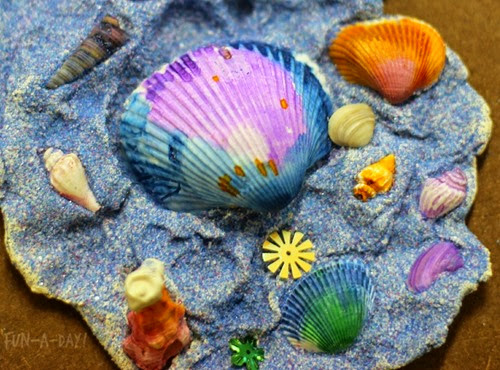 Colorful Shell Sculptures from Fun-a-Day