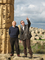 Michael and Paolo exploring Greek ruins