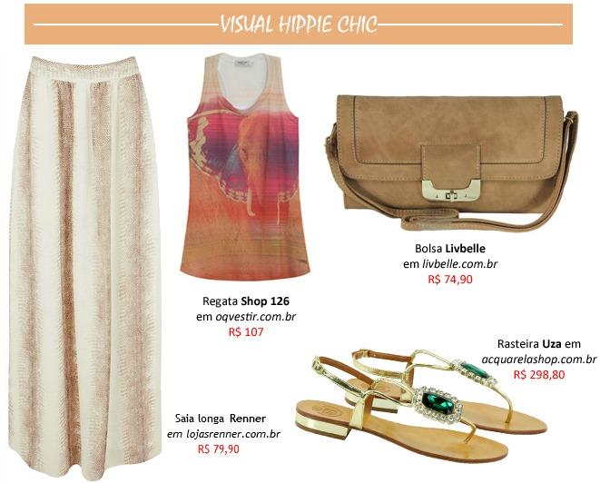 moda estilo hippie chic roupas e acessorios