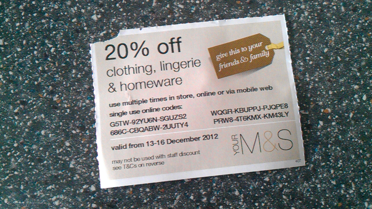 We have a dedicated team searching for the latest Marks & Spencer UK coupons and Marks & Spencer UK codes. Simply enter the Marks & Spencer UK promo code at checkout and save money today. Find the best offers at Voucher Codes UAE for bnightf.ml, remember to check us regularly before buying online to get Marks & Spencer UK vouchers.