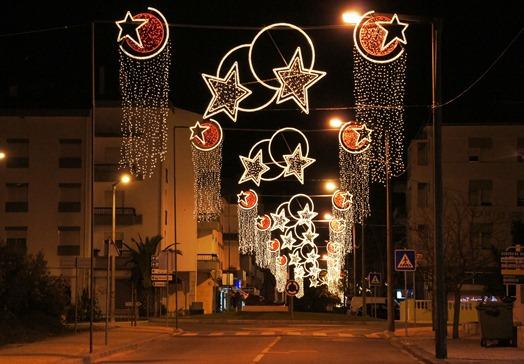 Portugal - rua em Fátima - natal 2010 - Glória Ishizaka