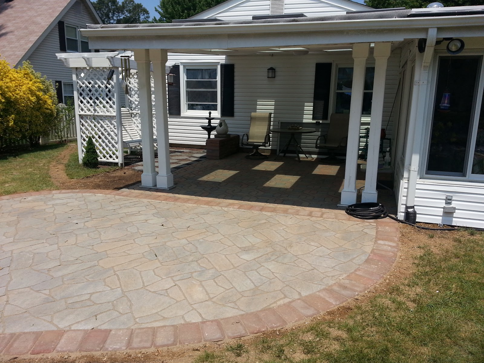 Flagstone Patio Pavers : Life time pavers flagstone paver patio in bowie md