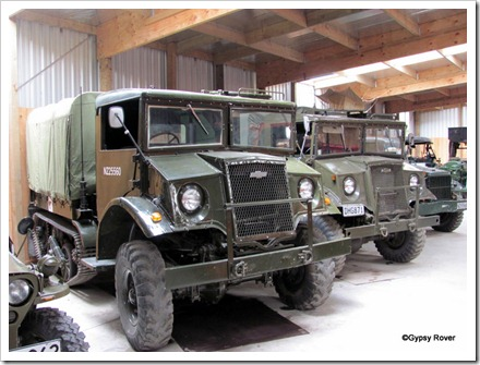 Tawhiti museum military vehicle collection. Two Chevrolet puddle jumpers.