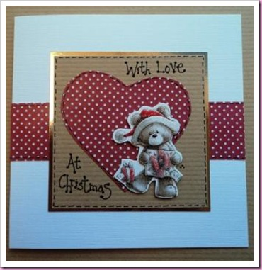 With Love at Christmas Teddy Card
