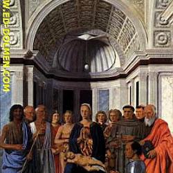 45 - Pietro della Francesca - Virgen con Federico de Montefieltro