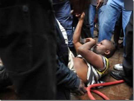EVATON cops protect Rivers of Living Waters Church from 1000 mob attackers March 21 2012