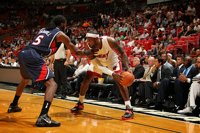 lebron james nba 131007 mia vs atl 02 LBJs Preseason Wears: Soldier 7, Ambassador 6, LeBron 10s