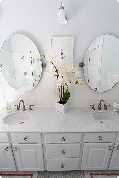 carrera marble bathroom