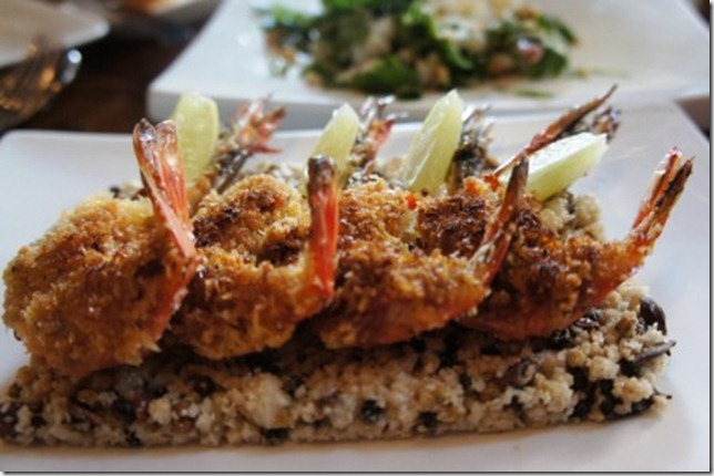 grilled tiger prawns