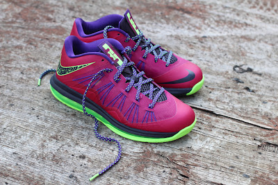 nike lebron 10 low gr purple neon green 8 01 Release Reminder: NIKE LEBRON X LOW Raspberry (579765 601)