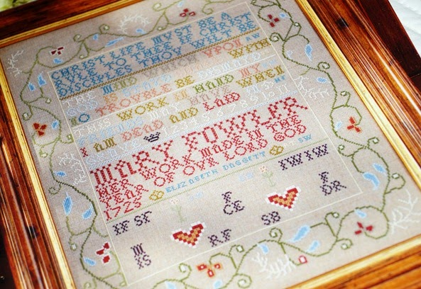 Cross Stitch Antique Style Sampler - 1