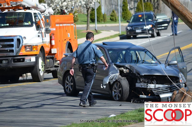 Car Into Pole In Front Of 164 East Eckerson Rd - DSC_0041.JPG