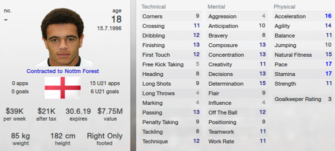 Mason Bennett in Football Manager 2013