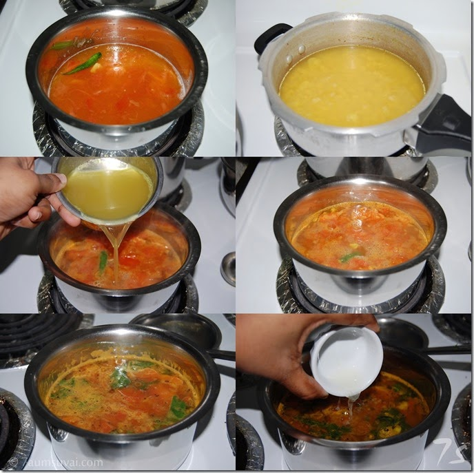 Lemon rasam process