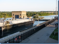 7995 St. Catharines - Welland Canals Centre at Lock 3 - Viewing Platform - Tug SPARTAN with barge SPARTAN II (a 407′ long tank barge) upbound