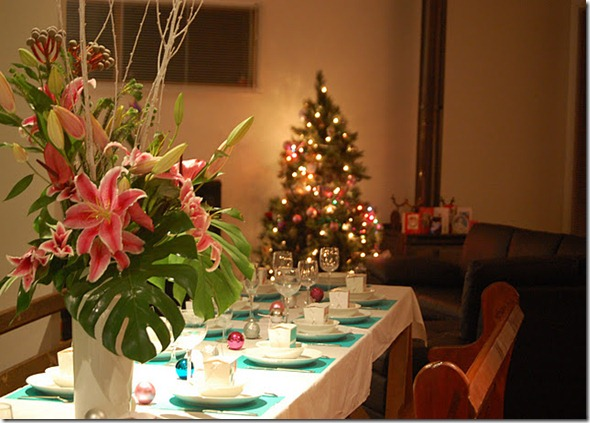 christmas table setting kellie