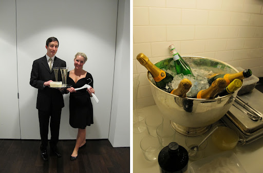 Champagne is one of my favorite things, especially Veuve Cliquot. The only thing just as elegant was the service by Gregory and Jenny!