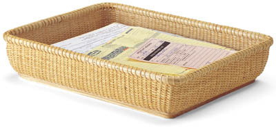 Add another basket like this one and you could use the pair as an in-and-out mail system. (basketville.com)