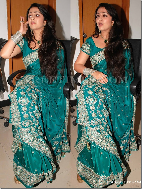 Charmi_Green_Designer_Saree