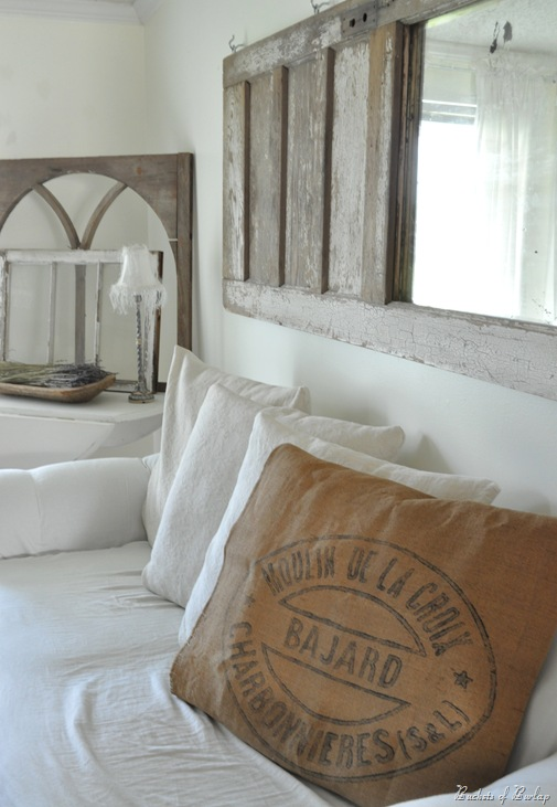 burlap grainsack pillow
