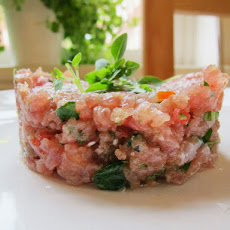 Tuna, Tomato, and Basil Tartare