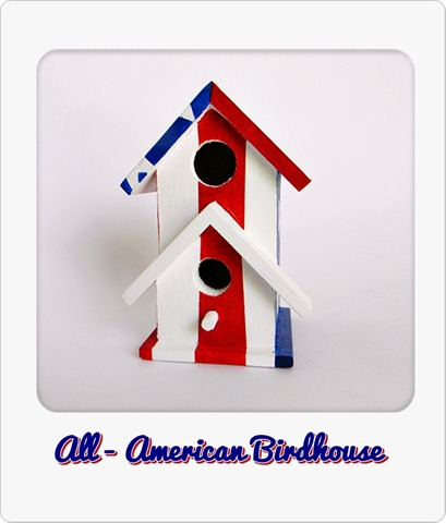 All-American Birdhouse w instant frame color text