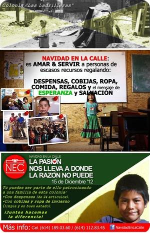 Navidad en la calle 2012 Chihuahua ayuda evento beneficencia 1
