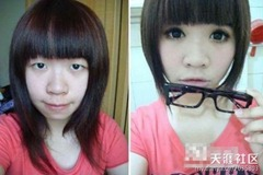 chinese girls makeup before and after  (23)