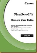 G1X User guide cover page