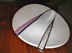 Diamond Knife $18,000  & Pink Sapphire Knife $12,000