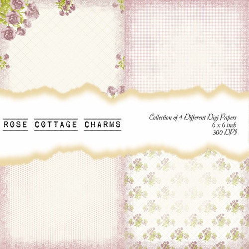 Rose Cottage Charms Front Sheet
