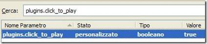 Attivare click to play Firefox
