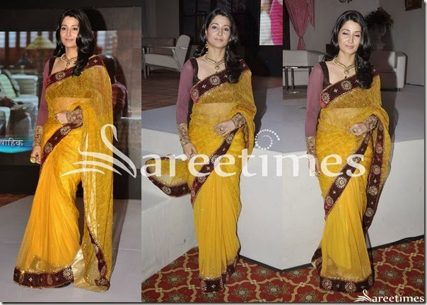 Yellow_Shimmer_Saree