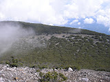 Dempo camping area seen from the crater rim (Daniel Quinn, October 2011)