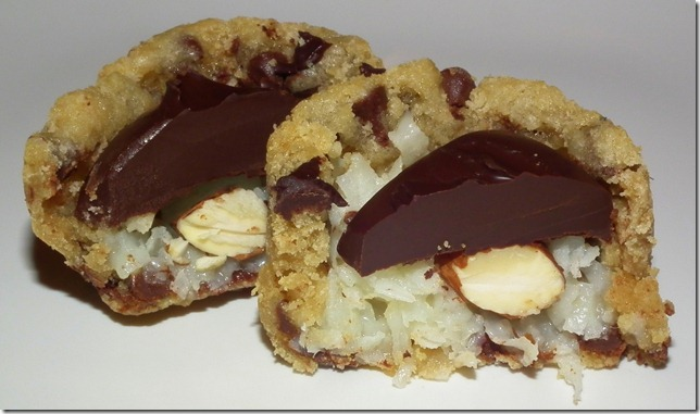 Almond Joy Chocolate Chip Cookie Cups