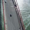 View of Golden Gate Bridge from a chopper