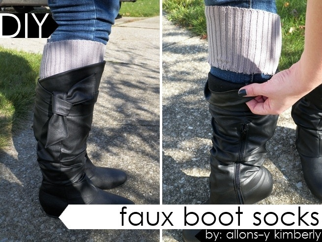 Faux Boot Socks From An Old Sweater | allonsykimberly.com