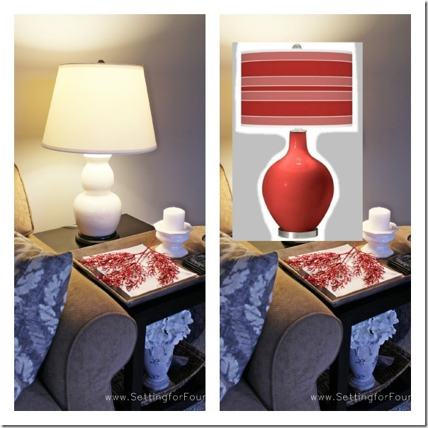 Before and After Colorful Lamp 