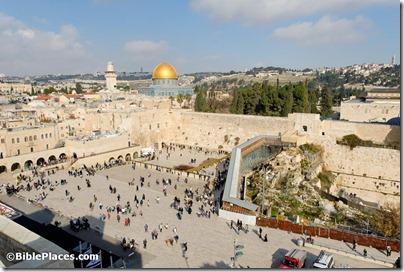 Western Wall prayer plaza from southwest, tb010312492