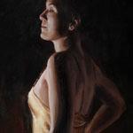 Golden nightgown