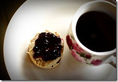 Christmas Tea and Scone