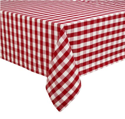 Nothing is more perfect for a picnic than a gingham table cloth. (surlatable.com)