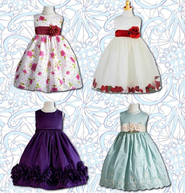 vestidos para meninas moda infantil