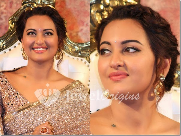 Sonakshi_Sinha_Gold_Earrings