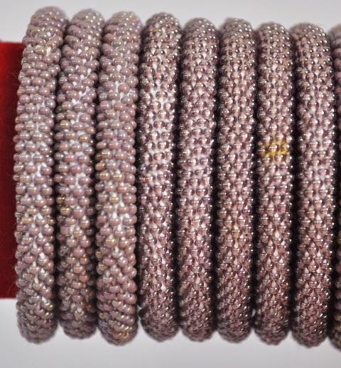 Rollover Purple Bead Bracelets
