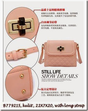 B779215  Pink- Kulit,22x7x20,talpan